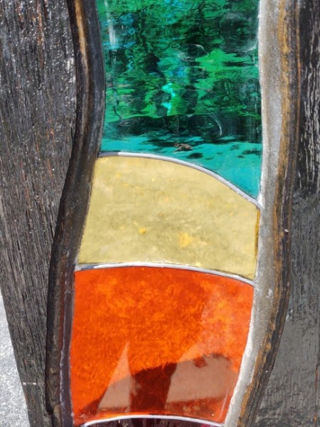 Stained Glass Yard Totem #1