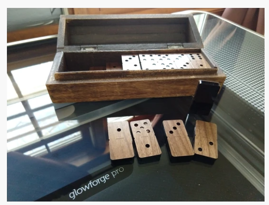 Wood and Acrylic Dominos with Box