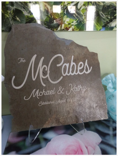 Custom Slate Engraving