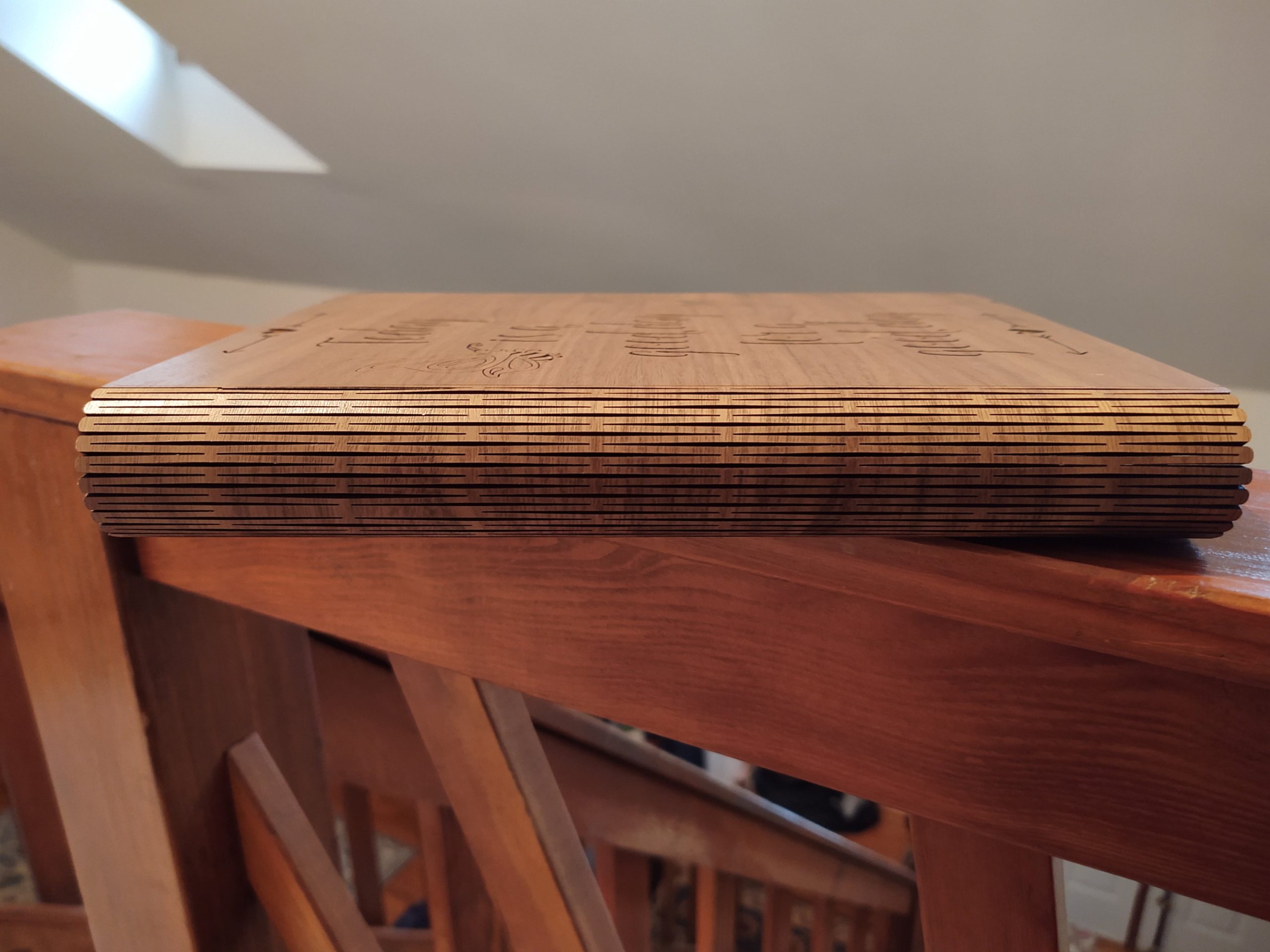 """Wooden Planner Notebook """"Today is a good day for a good day."""""""