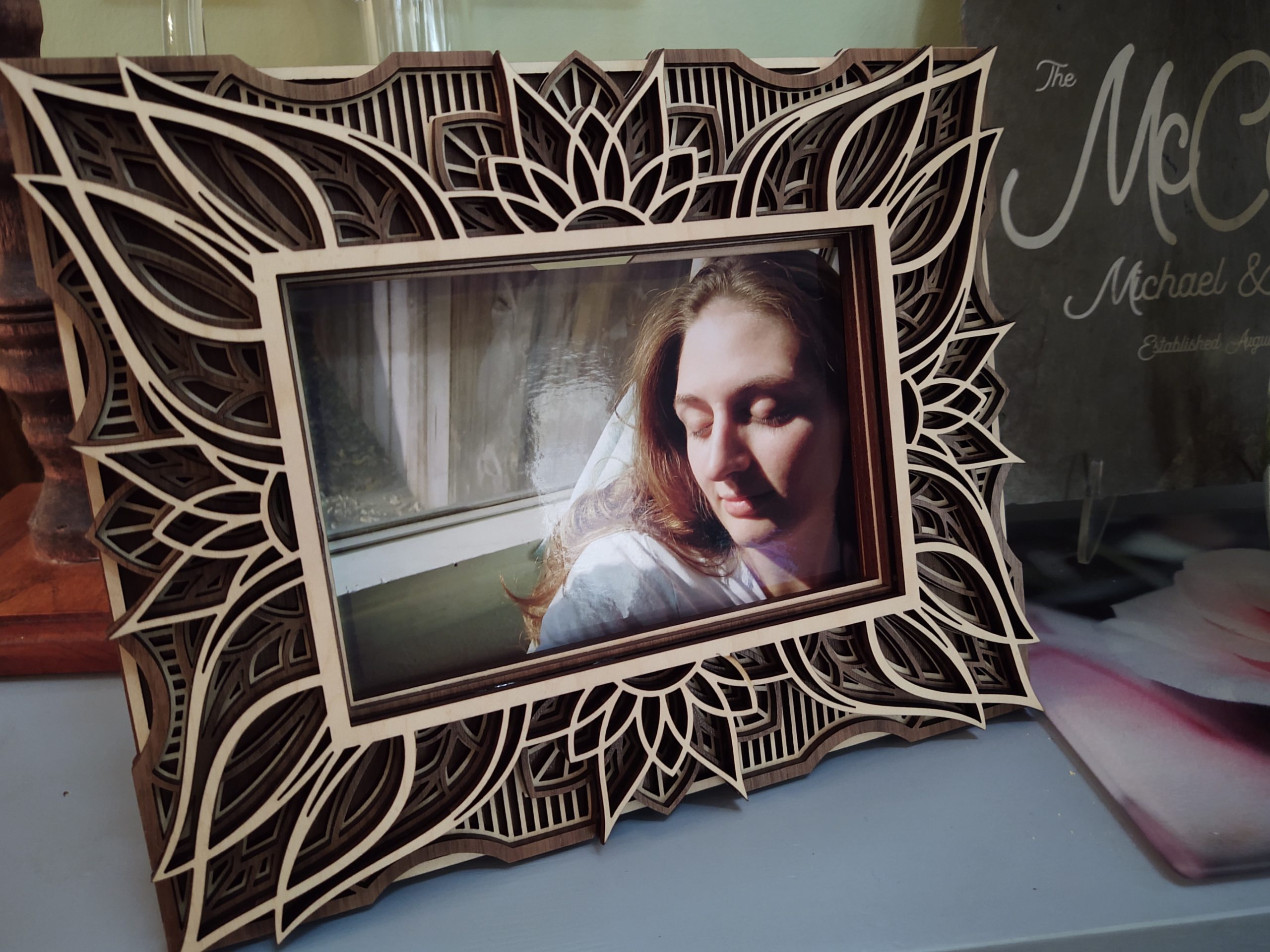 Multi-layer Wooden Picture Frames