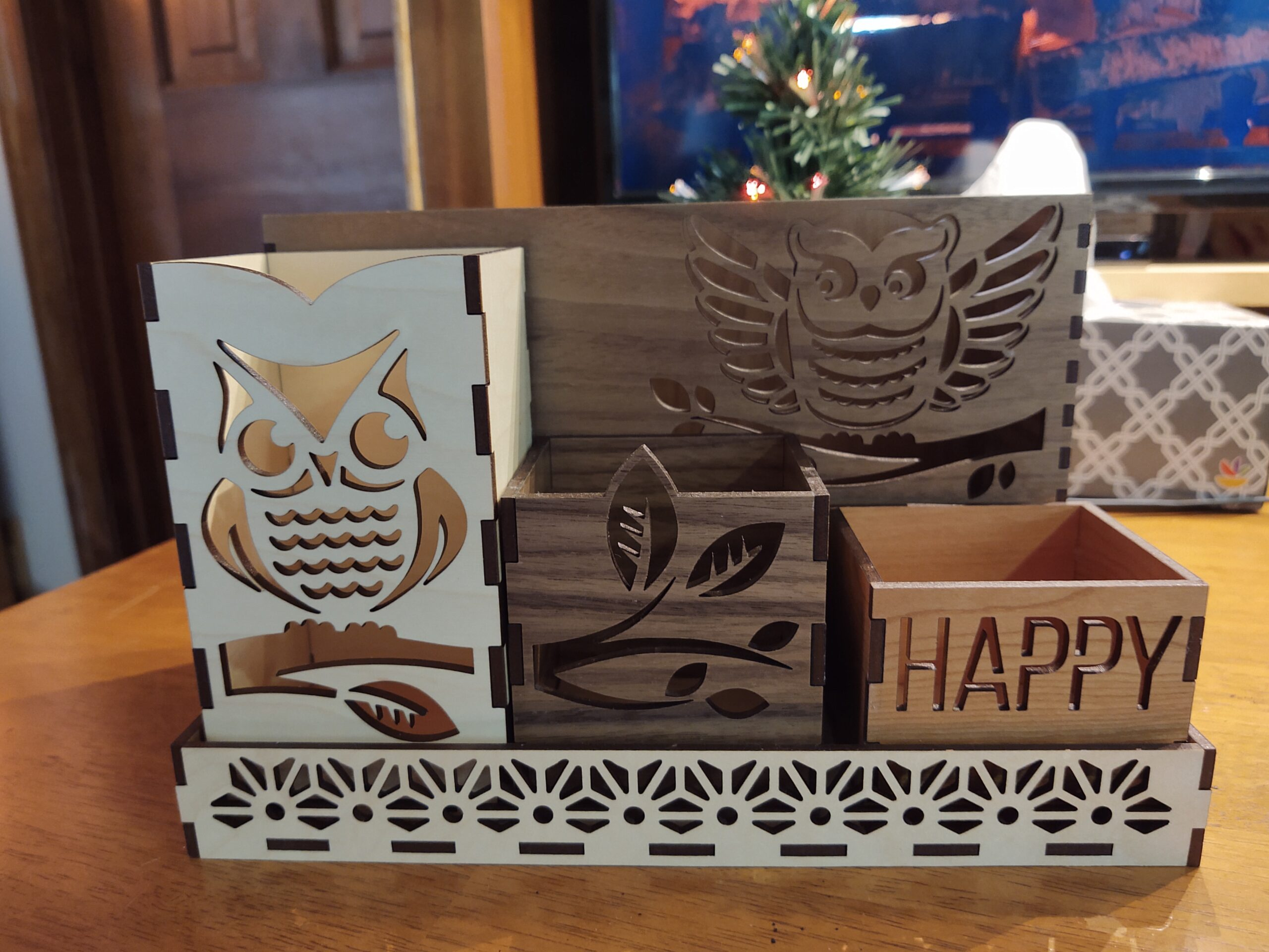 Owl Themed Organizer - 5-piece Set