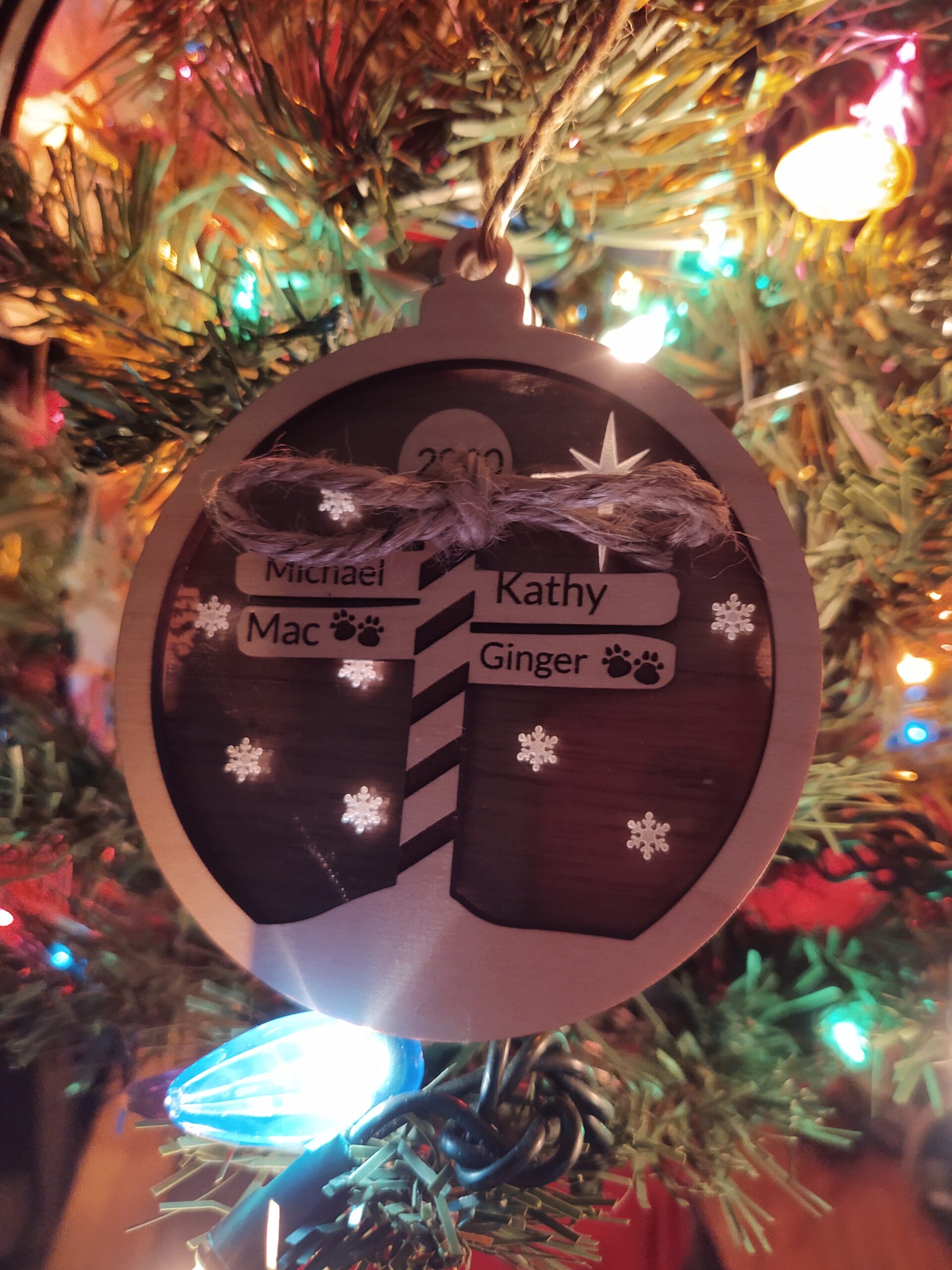 North Pole Christmas Ornaments - Personalized