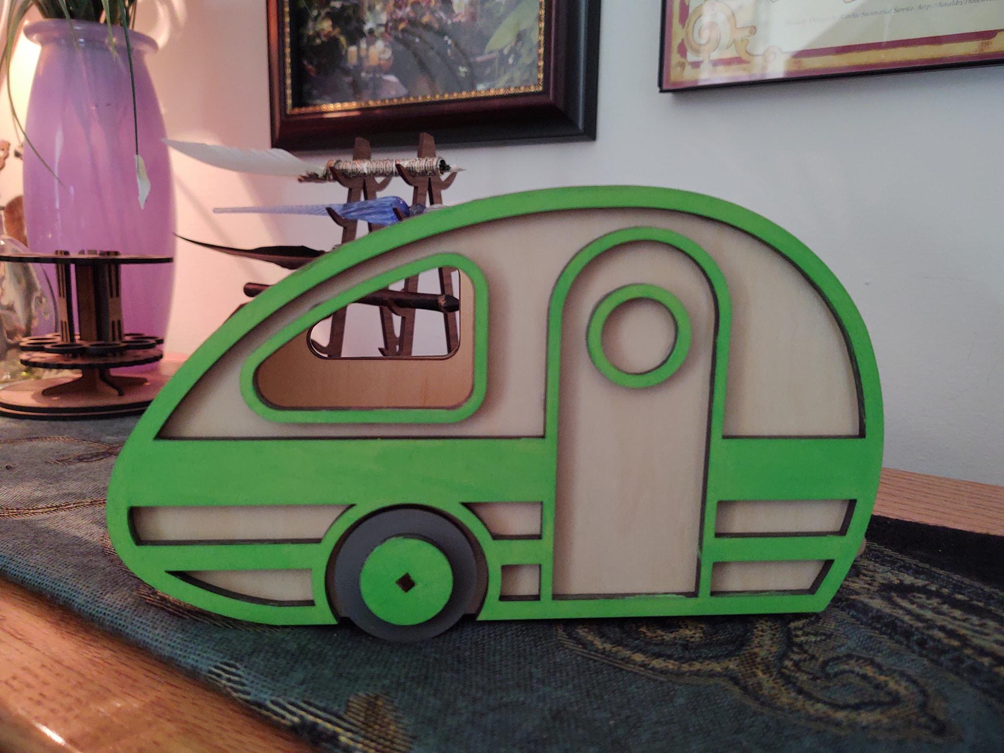 Handmade Retro Camper Desk Organizer
